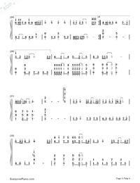 123 Don't Move Simple Version Numbered Musical Notation Preview 3