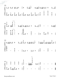 123 Don't Move Simple Version Numbered Musical Notation Preview 4
