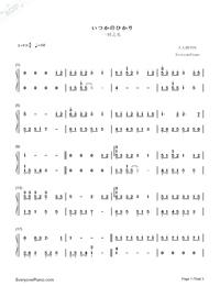Itsuka no Hikari-Haruka Shimotsuki-Numbered-Musical-Notation-Preview-1
