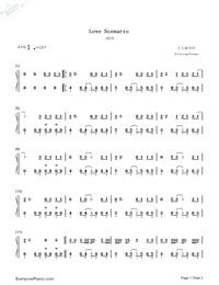 Love Scenario Ikon Free Piano Sheet Music Piano Chords