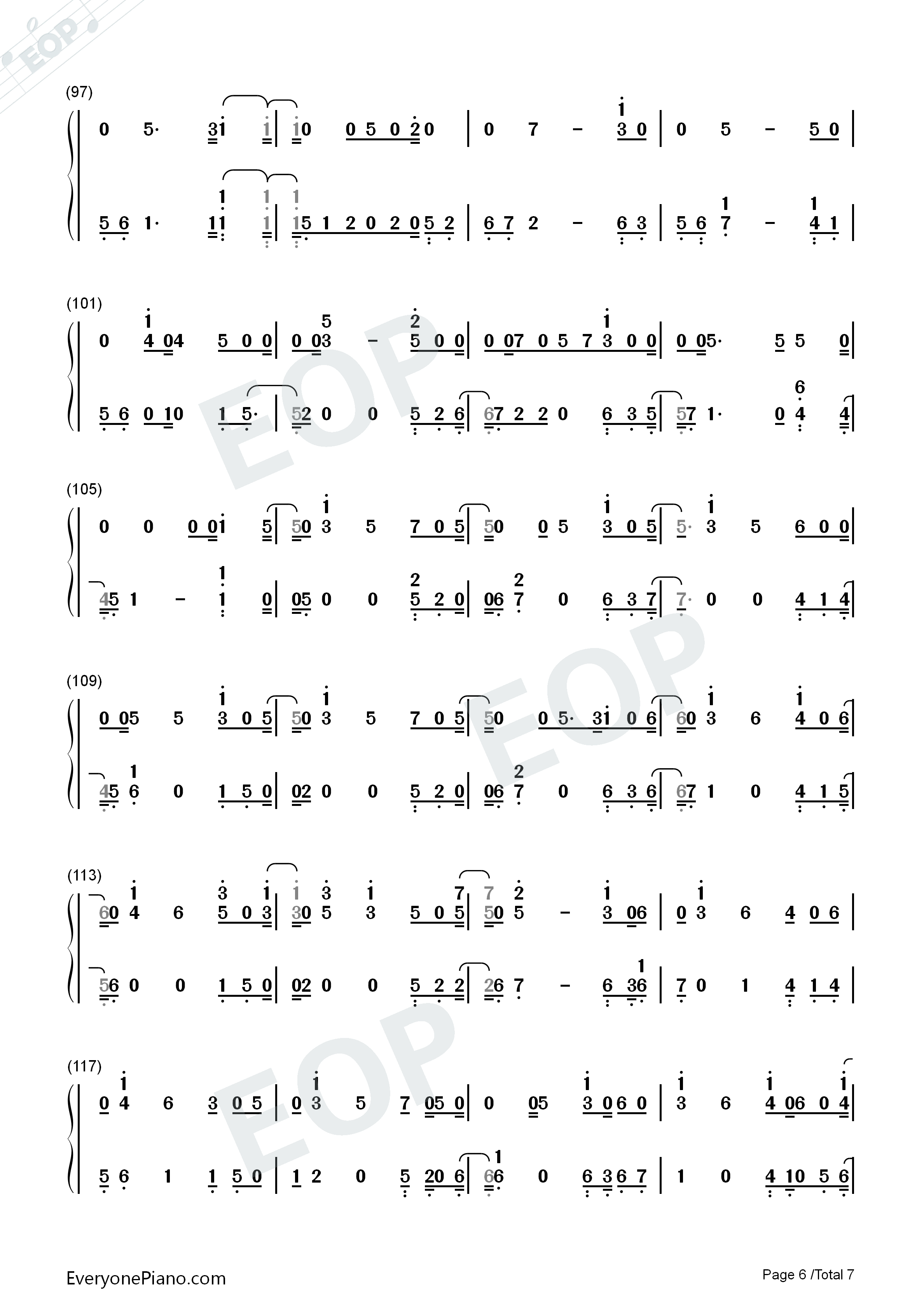 Girls Like You-Maroon 5 Numbered Musical Notation Preview 6