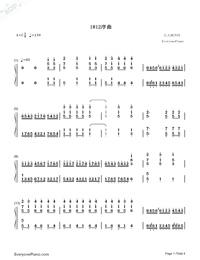 序曲『1812年』-変ホ長調 作品49両手略譜プレビュー1