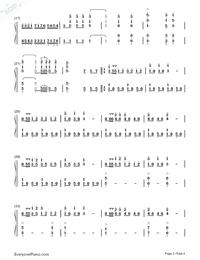 序曲『1812年』-変ホ長調 作品49両手略譜プレビュー2
