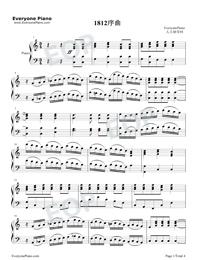 序曲『1812年』-変ホ長調 作品49五線譜プレビュー1