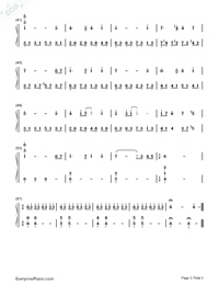 Castle in The Sky in C Major Advanced Version-Joe Hisaishi Numbered Musical Notation Preview 3