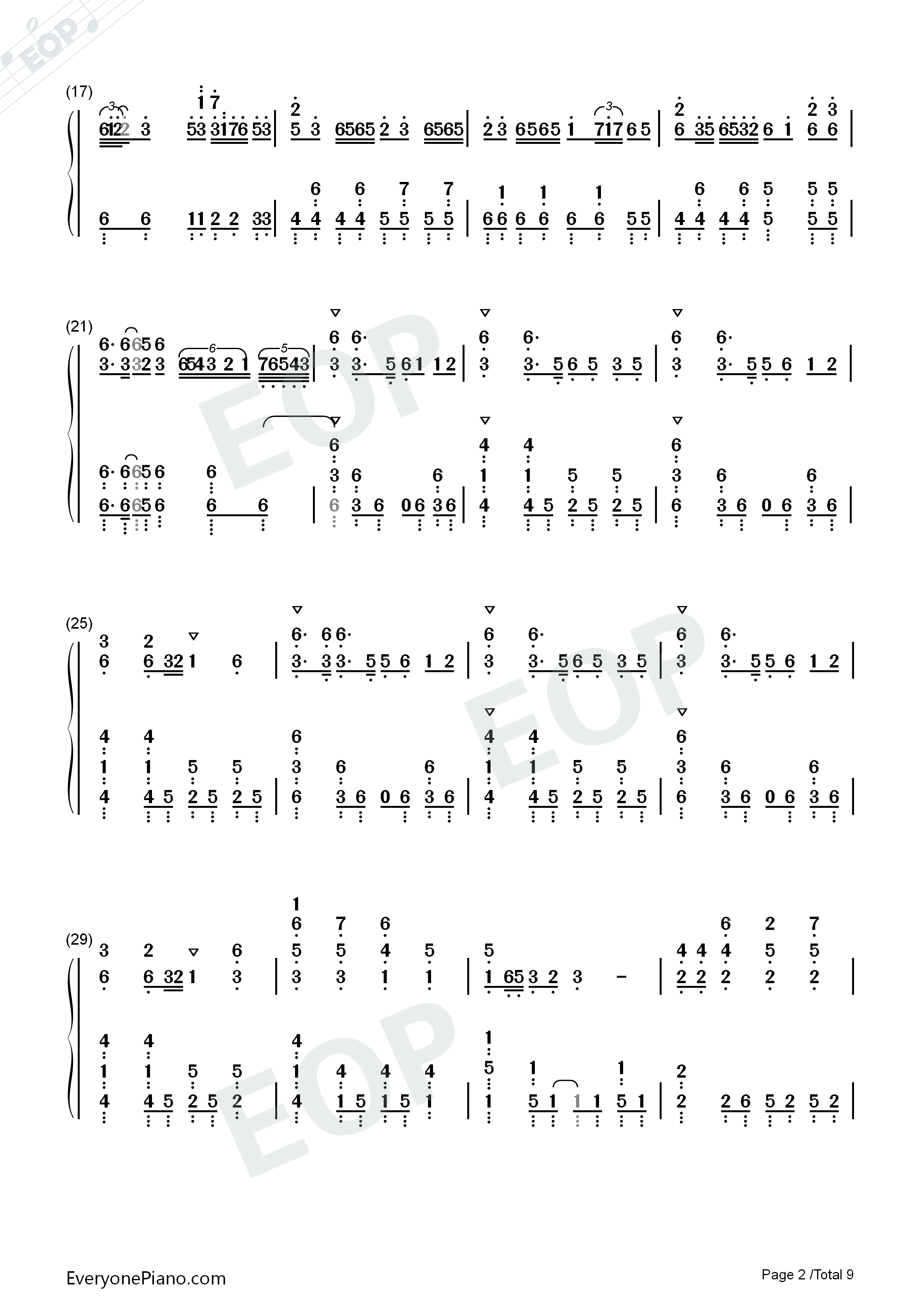 Senbonzakura Original Version-Hatsune Miku Numbered Musical Notation Preview 2