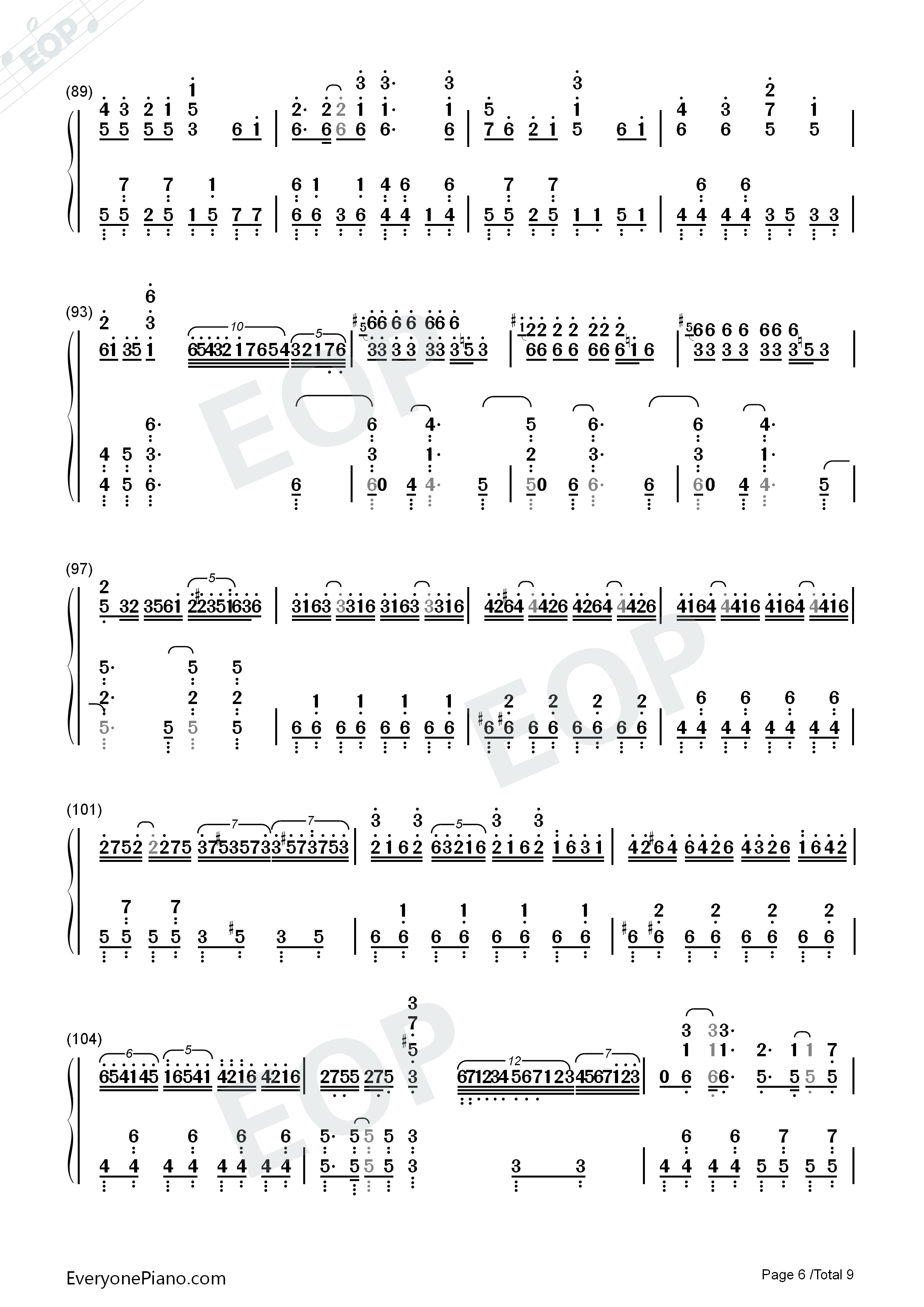 Senbonzakura Original Version-Hatsune Miku Numbered Musical Notation Preview 6