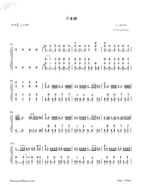 Senbonzakura Original Version-Hatsune Miku Numbered Musical Notation Preview 1