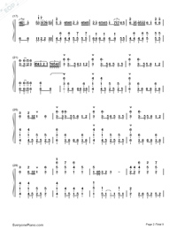 Senbonzakura Original Version-Hatsune Miku-Numbered-Musical-Notation-Preview-2