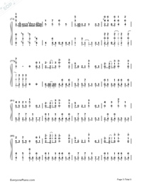 Senbonzakura Original Version-Hatsune Miku-Numbered-Musical-Notation-Preview-5