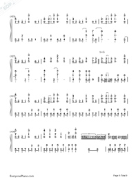 Senbonzakura Original Version-Hatsune Miku Numbered Musical Notation Preview 8