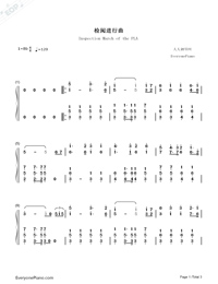 Inspection March of the PLA-Troops Review March of the PLA-Numbered-Musical-Notation-Preview-1