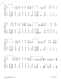 Inspection March of the PLA-Troops Review March of the PLA-Numbered-Musical-Notation-Preview-3