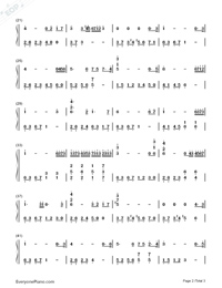 Tears in C Major Simple Version-The Daydream Numbered Musical Notation Preview 2
