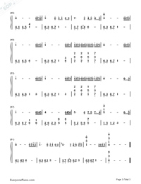 Tears in C Major Simple Version-The Daydream Numbered Musical Notation Preview 3