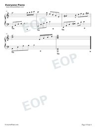 Tears in C Major Simple Version-The Daydream Stave Preview 4