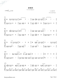To Be Honest-Zeng Xi-Numbered-Musical-Notation-Preview-1