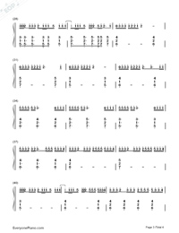 Better Now-Post Malone-Numbered-Musical-Notation-Preview-3