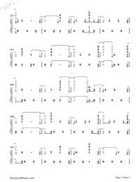 Fuego-The Eurovision Song Contest 2018-Numbered-Musical-Notation-Preview-3