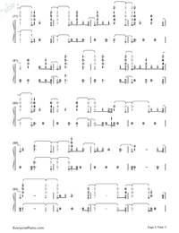 Fuego-The Eurovision Song Contest 2018-Numbered-Musical-Notation-Preview-5