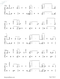 Fuego-The Eurovision Song Contest 2018-Numbered-Musical-Notation-Preview-9