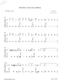 Reckless Love-Cory Asbury Free Piano Sheet Music & Piano Chords