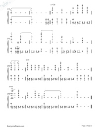 Even For You-Avengers Infinity War OST-Numbered-Musical-Notation-Preview-2