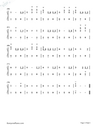 Always With Me Simple Version with Fingering Mark-Joe Hisaishi Numbered Musical Notation Preview 3