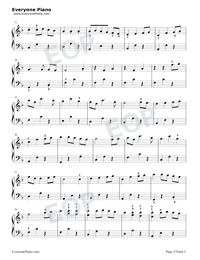 Always With Me Simple Version with Fingering Mark-Joe Hisaishi Stave Preview 2