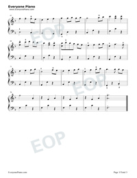 Always With Me Simple Version with Fingering Mark-Joe Hisaishi Stave Preview 3