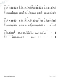 Unravel in C Major-Numbered-Musical-Notation-Preview-2
