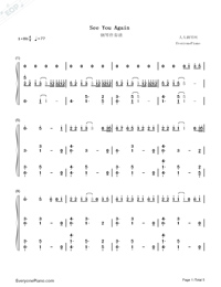 See You Again-Accompaniment-Numbered-Musical-Notation-Preview-1