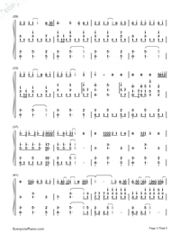 See You Again-Accompaniment-Numbered-Musical-Notation-Preview-3