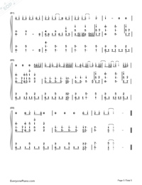 See You Again-Accompaniment-Numbered-Musical-Notation-Preview-5
