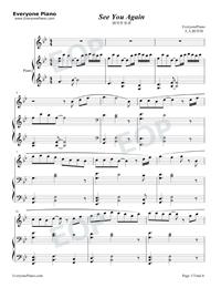 See You Again-ピアノ伴奏譜五線譜プレビュー1