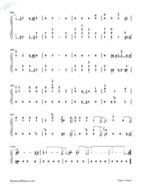 Stay-Post Malone-Numbered-Musical-Notation-Preview-5