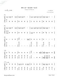 Yuima-ru☆World-Haitai Nanafa ED-Numbered-Musical-Notation-Preview-1