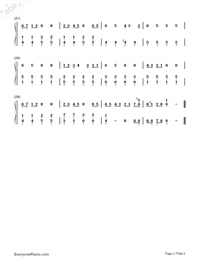 Yuima-ru☆World-Haitai Nanafa ED-Numbered-Musical-Notation-Preview-2
