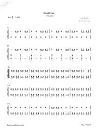 HandClap-Simple Version Numbered Musical Notation Preview 1