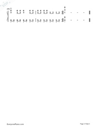 HandClap-Simple Version-Numbered-Musical-Notation-Preview-3