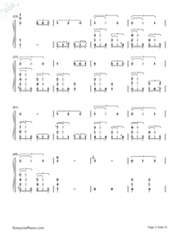 This Earth for You-Chikyuu o Ageru-Numbered-Musical-Notation-Preview-3