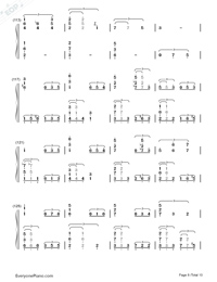This Earth for You-Chikyuu o Ageru-Numbered-Musical-Notation-Preview-8