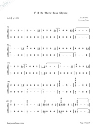 I'll Be There-Jess Glynne-Numbered-Musical-Notation-Preview-1