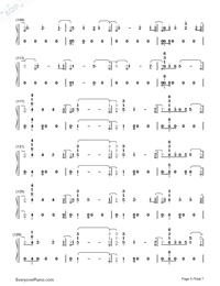 I'll Be There-Jess Glynne-Numbered-Musical-Notation-Preview-5
