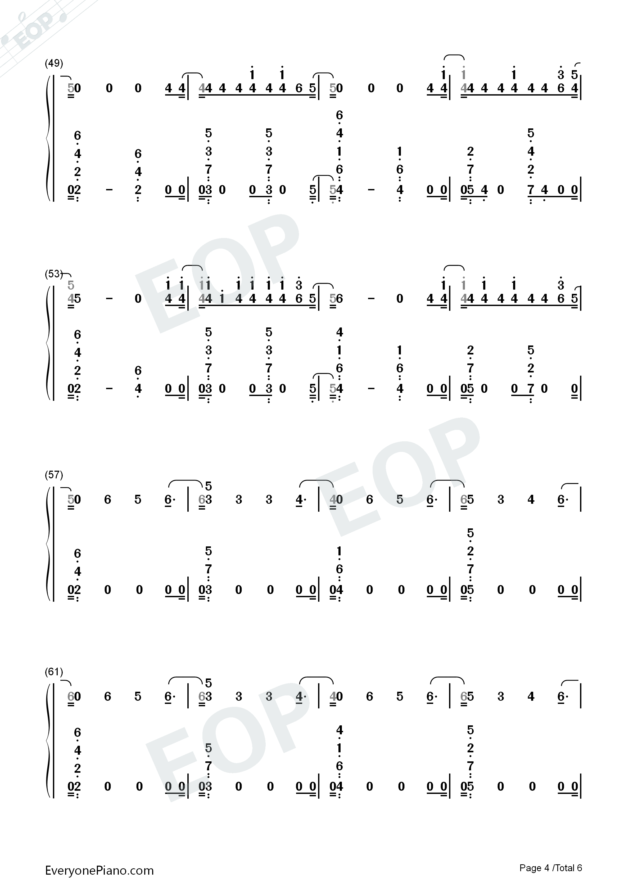 I'm Upset-Drake Numbered Musical Notation Preview 4