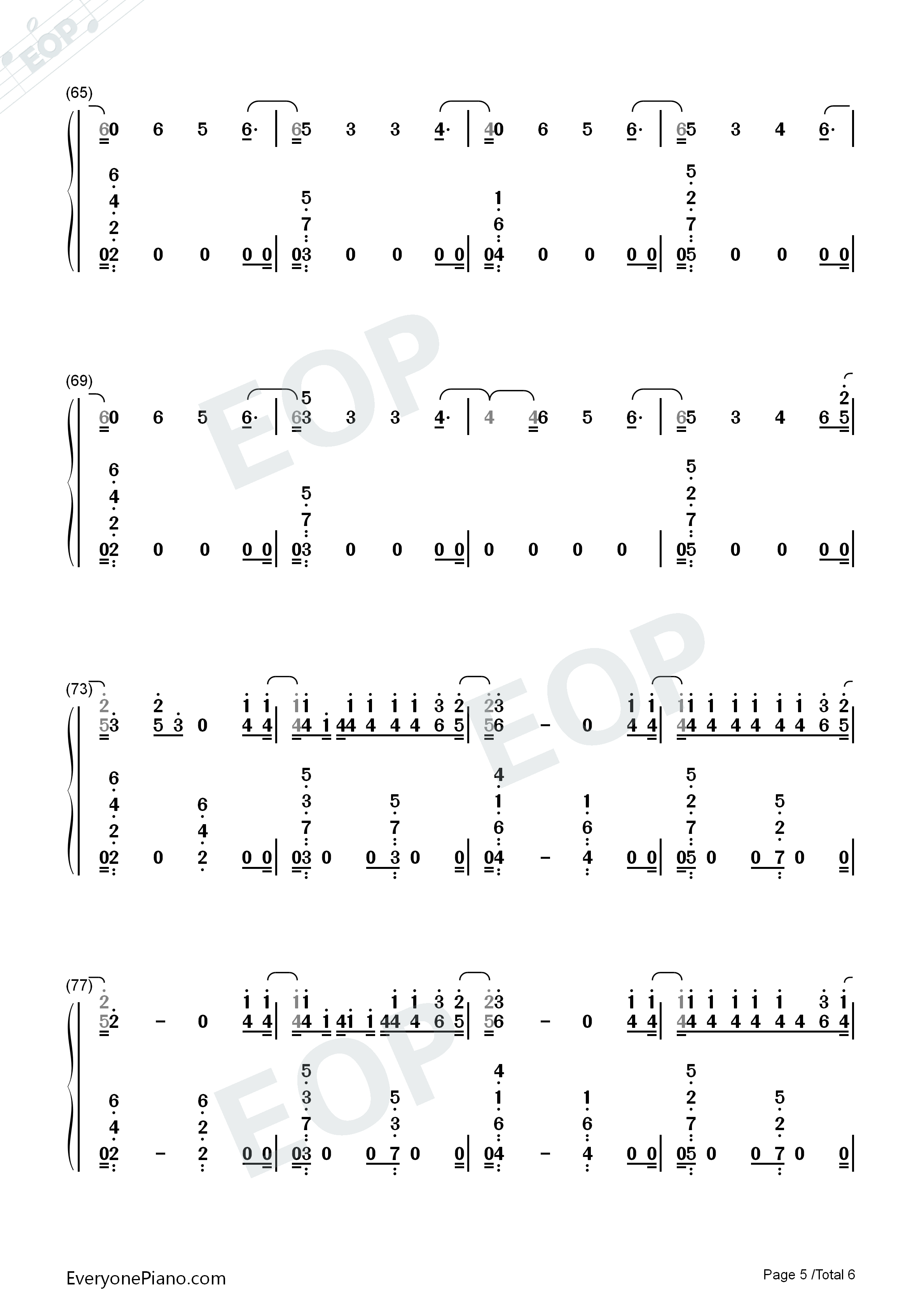 I'm Upset-Drake Numbered Musical Notation Preview 5