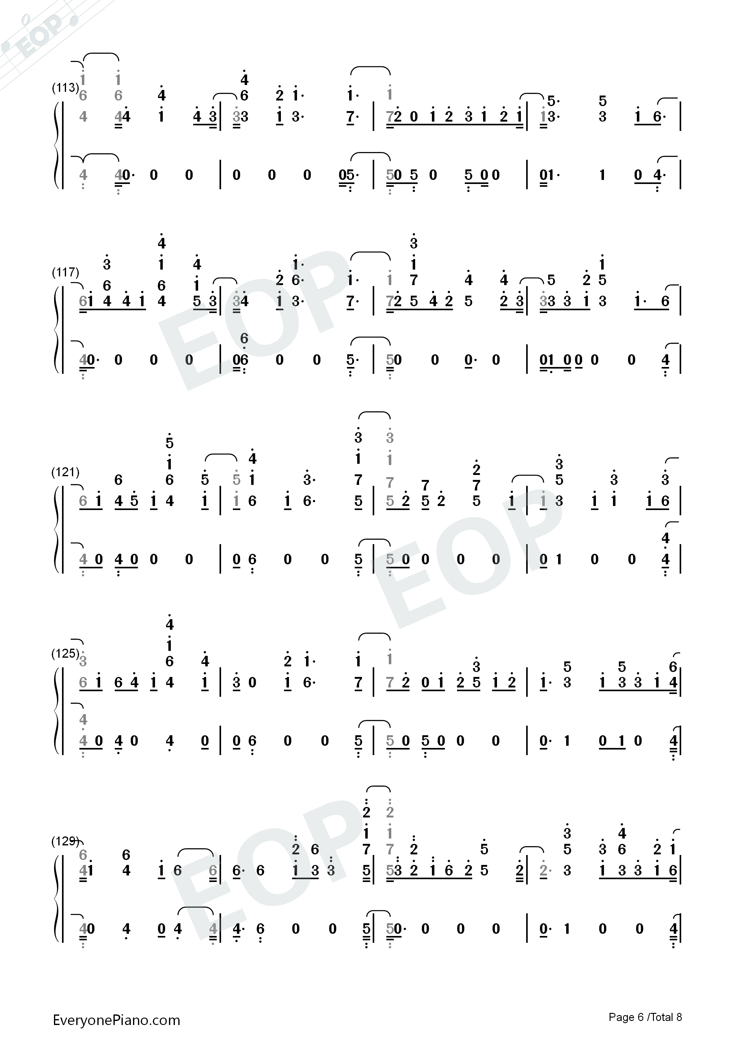 Don't Say You Love Me-Fifth Harmony Numbered Musical Notation Preview 6