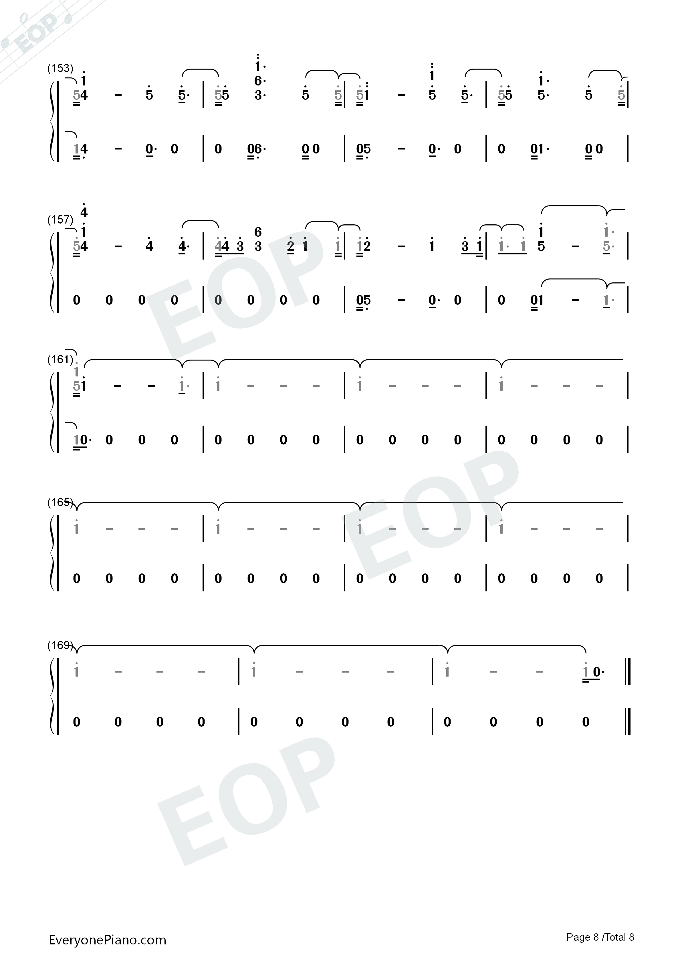 Don't Say You Love Me-Fifth Harmony Numbered Musical Notation Preview 8