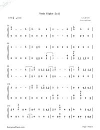 Yeah Right-Joji Free Piano Sheet Music & Piano Chords