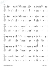 Love While Walking-Numbered-Musical-Notation-Preview-2